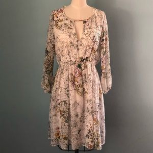 Zara Floral Dress | Bi-Level Hem | Medium